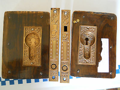 OLD CORBIN EASTLAKE CAST BRONZE POCKET DOOR LOCKS AND PULLS Tocoma Hotel