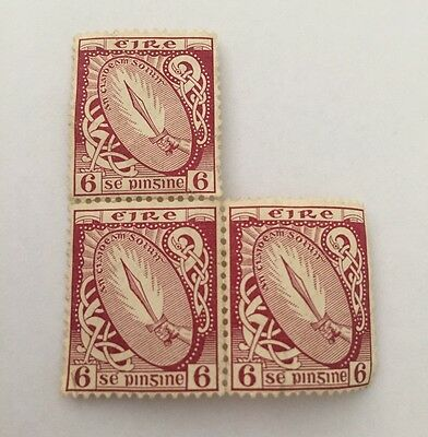 Ireland 1923 Sword Of Light 6p Stamp Fine Mint Condition NH