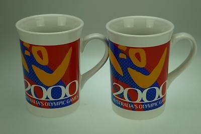 Lot of 2 Sydney Olympics 2000 Porcelain Mugs by Lush Creations Australian AE19