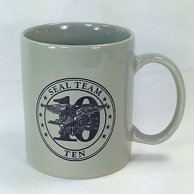 Navy Seal Team Ten Coffee Mug Cup US United States Military Trident Emblem Linyi