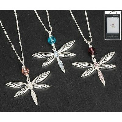 Equilibrium Silver Plated Ring  Bead Dragonfly Mothers Day Necklace Chain 64604