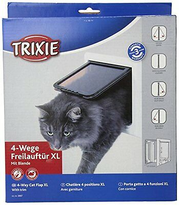 Trixie 3867 4-Way Cat Flap with Tunnel White