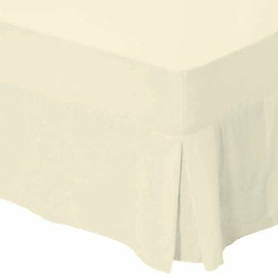 Catherine Lansfield Non Iron Percale Double Valance Sheet - Cream