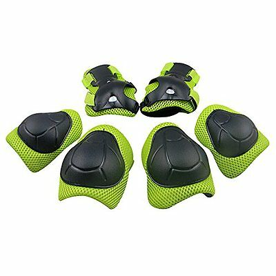 TOPFIRE Child's Pad Set with Knee Elbow and Wrist (Green)