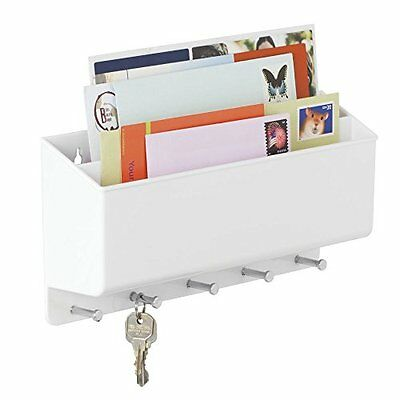 Mdesign Post/Letter Rack Key Holder Organiser Kitchen Outdoor Porch Wall Mounted