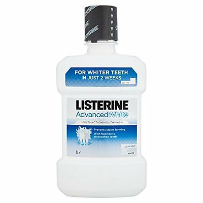 Listerine Advanced White Multi-Action Mouthwash Clean Mint, 1L