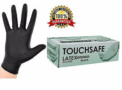 Extra Strong Black Latex Disposable Gloves Powder Free Tattoo Mechanic Nitrile