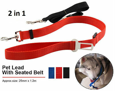 New Dog Pet Car Safety Seat Belt Harness Restraint Lead Adjustable Travel Clip
