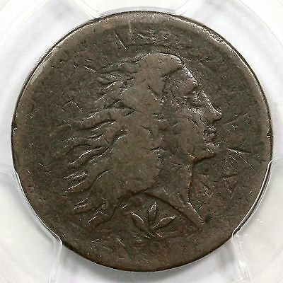 1793 S-9 R-2 PCGS F Details Vine and Bars Edge Wreath Large Cent Coin 1c