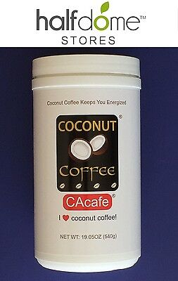 CACafe Coconut Coffee Keeps you Energized! 19 oz 540g Real Coconut, Dairy Free