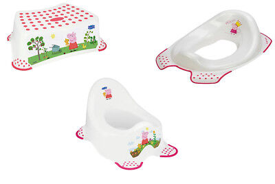 Princess Peppa Pig or George Pig Steady Potty, Step Stool & Toilet Training Seat
