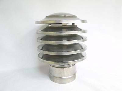 Chimney Cowl Stainless Steel Static Woodburning Stove Chimney Hat 130mm diameter