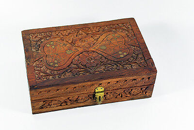 Antique Carved Wood Box