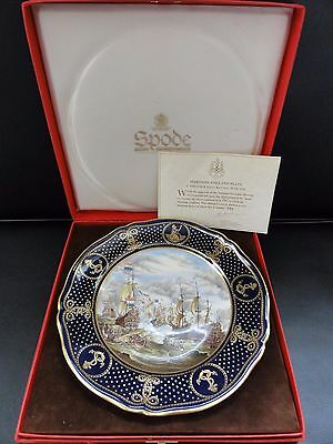 Spode Fine Bone Plate - Maritime England - The Four Days Battle 1666. BNIB