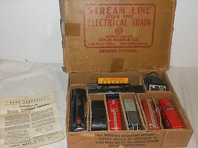 Vintage Tintoy - Eisenbahn Set - Stream Line Electrical Train Spur 0 - Marx Toys