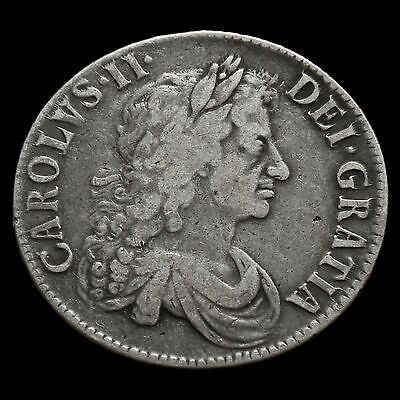 1671 Charles II Early Milled Silver Vicesimo Tertio Crown