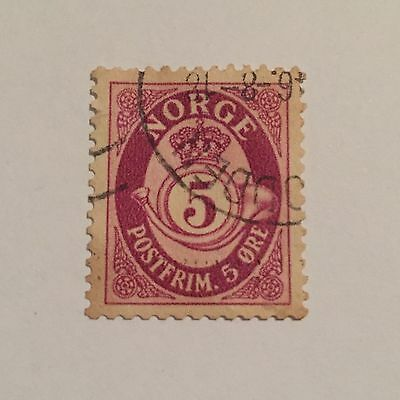 Norway 1941 5 Ore Stamp Excellent Used