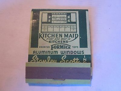 vintage Kitchen Maid Kitchen Formica Cabinet Stanley Scott 1950's era matchbook