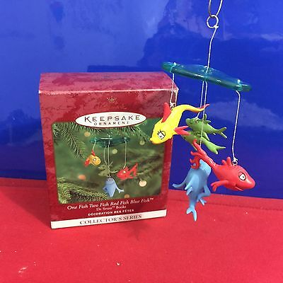 Hallmark Ornament One Fish Two Fish Red Fish Blue Fish Dr Seuss 2000