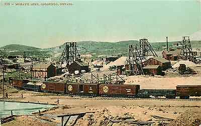 Goldfield Nv Mohawk Mine Ore-Carrying Freight Train Postcard