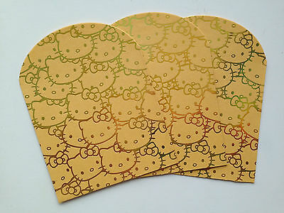HELLO KITTY Gold or Leopard Small Chinese New Year Red Packet / Envelopes (8PK)