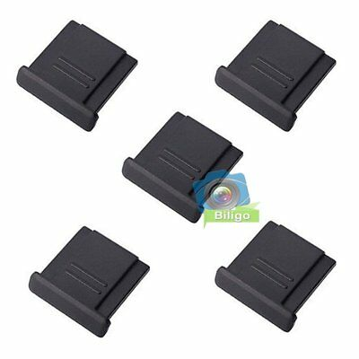 5 x Universal BS-1 Hot Shoe Cover Cap For Canon Nikon Olympus DSLR Cameras【UK】