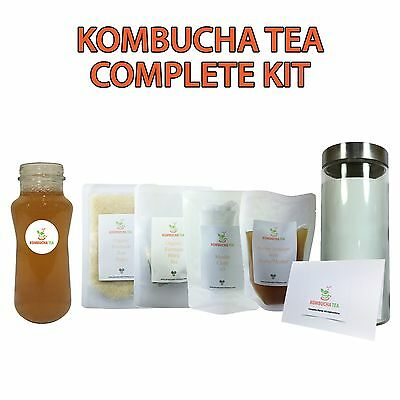Kombucha Tea - Complete Starter Kit - Cleansing - Organic Fairtrade - Scoby - Au