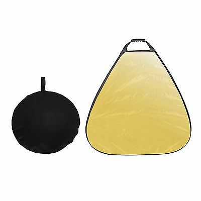 80cm 5in1 Triangle Reflector  Disc Collapsible For Photography With Handheld New