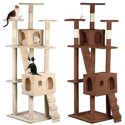 185CM Cat Kitten Tree Tower Condo Scratching Post Pet Play House Furniture New