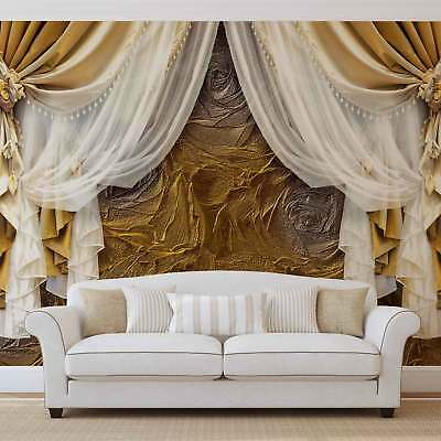 WALL MURAL PHOTO WALLPAPER XXL Golden Curtains (3562WS)