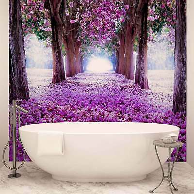 WALL MURAL PHOTO WALLPAPER XXL Flowers Tree Path Purple (2379WS)