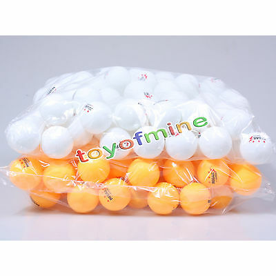 50pcs 3-Stars 40mm Olympic Ping Pong Table Tennis Ball White/Orange