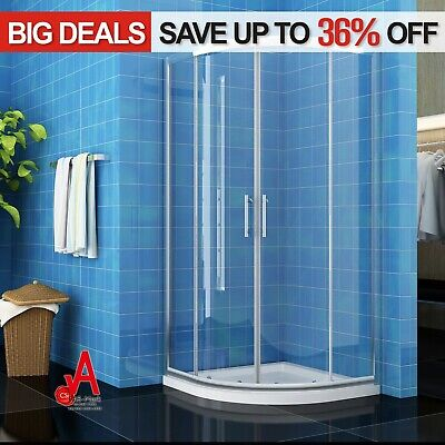 800/900/1000mm New Round Curved Sliding Shower Screen Offset Quadrant Enclosure