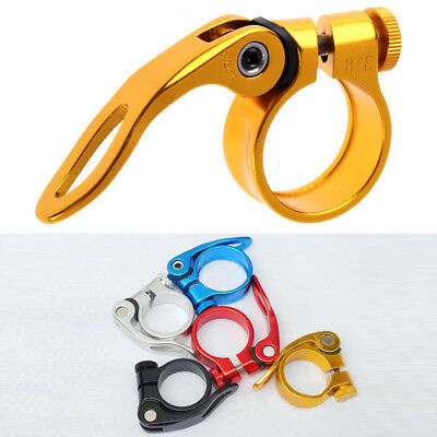 31.8mm MTB Bike Cycling Saddle Seat Post Clamp Quick Release QR Style New  hv2n