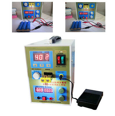LED Dual Pulse Spot Welder 18650 Battery Charger 800 A 0.1- 0.2 mm 36V 60A 2016