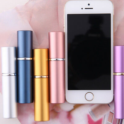 HOT 5ml Metal Glass Empty Refillable Perfume Bottle Spray Atomizer Travel Gift C