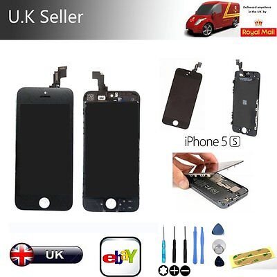 Replacement LCD Touch Screen Display Digitizer Assembly for iPhone 5S Black+Tool