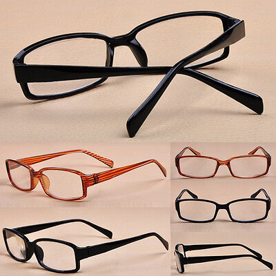 Hot Unisex Men Women Fashion Black Plastic Transparent 1.0-4.0 Reading Glasses