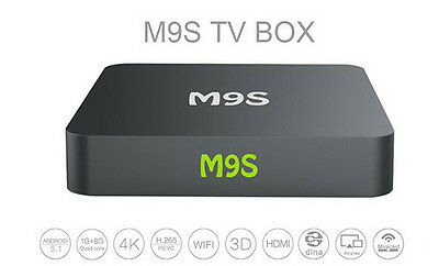 2016 M9s 4K Quad Core Android 5.1 TV Box Fully Loaded KODI XBMC Stream Movies