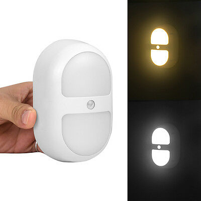 Motion Sensor Activated Night Light Stairs Hallway Bathroom Kids LED Safety Lamp