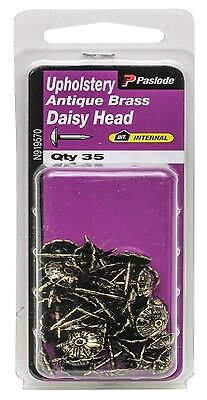 2x Paslode UPHOLSTERY NAILS 35 Pcs Antique Brass AUS Brand -Daisy Or Hammer Head