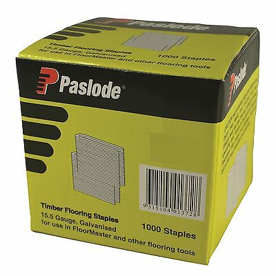 Paslode TIMBER FLOORING STAPLES 1000Pcs 15.5 Gauge Galvanised Australian Brand