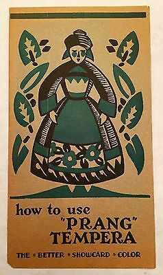 1930's American Crayon Company How To Use Prang Tempera Brochure Old Paper Cool!