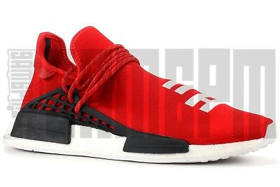 finest selection 6f00b 11b14 ADIDAS HU NMD PHARRELL WILLIAMS 7 8 SCARLET RED BLACK HUMAN RACE equality  boost