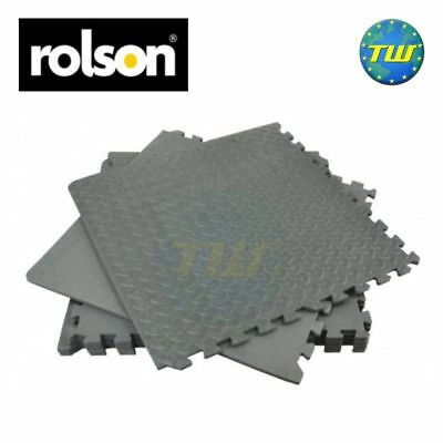 Rolson 6pc Interlocking Soft Foam Floor Mat Set for Gym House Garage Workshop