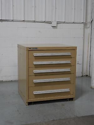 Used Vidmar 5 Drawer Cabinet 33 Inch Industrial Tool Storage #743 Lyon