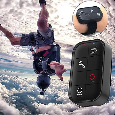Waterproof Wireless Remote Control + Wrist Strap For GoPro Hero 5 4 3+ Session