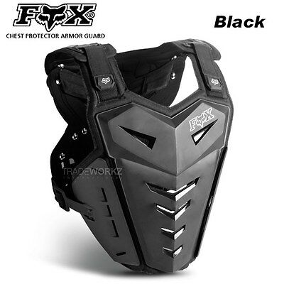 New Black FOX Racing Motorcycle Motocross Vest Chest Protector Body Armor Guard