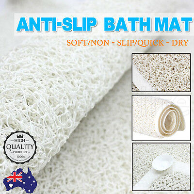 2016 Anti Slip Loofah Shower Rug Bathroom Bath Mat Carpet Water Drains Non Slip
