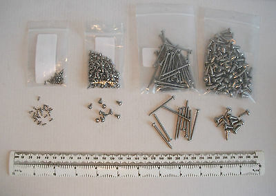 """Small tiny short self tapping screws stainless 0 2 4 8 x 1/8"""" to 1-1/2"""" pan head"""